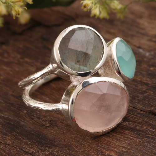 16.5-Carat Multi-Gemstone Cocktail Ring from India 'Sparkling Blossom'