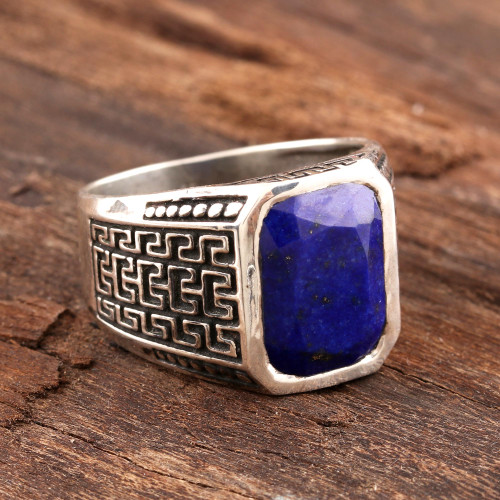 Men's 3-Carat Lapis Lazuli Ring from India 'Lapis Magnificence'