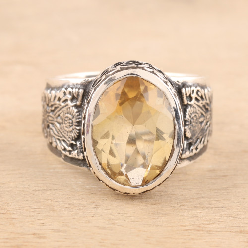 Men's 6-Carat Citrine Ring from India 'Magnificent Glitter'