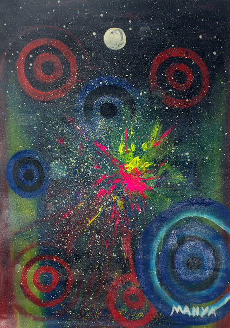 Abstract African Acrylic Painting 'The African Holiness'