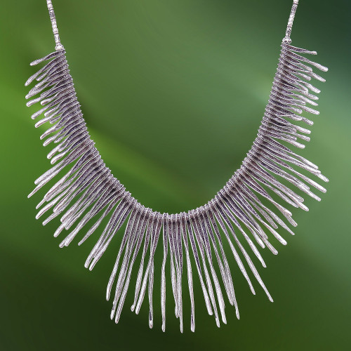 Combination-Finish Karen Silver Waterfall Necklace 'Dark Cascade'