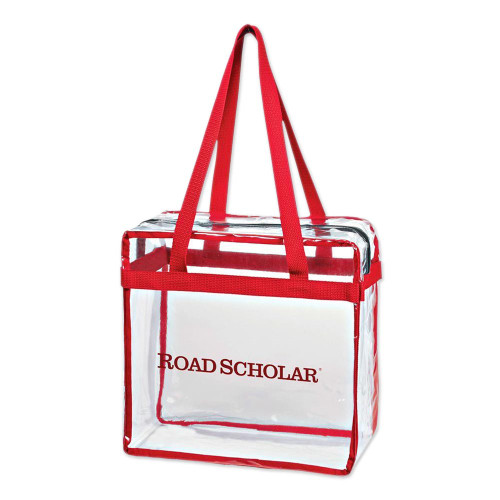 Clear Tote Bag 'Road Scholar'