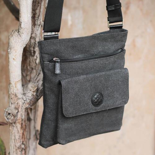 Cotton messenger bag 'Piura Traveler'
