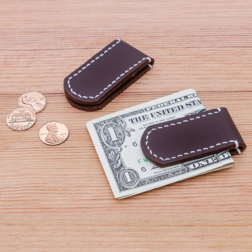 Leather money clips Pair 'Savvy Spender'