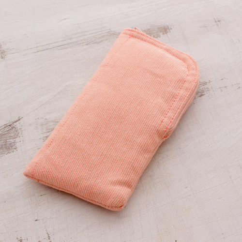Cotton Eyeglasses Case in Blush from Guatemala 'Blushing Beauty'