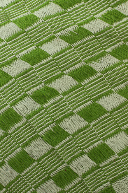 Cotton Scarf in Spring Green and Eucalyptus from Mexico 'Mexican Spring'
