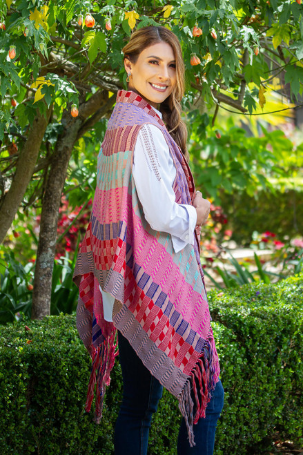 Handwoven Colorful Cotton Vest from Mexico 'Chaleco Elegance'