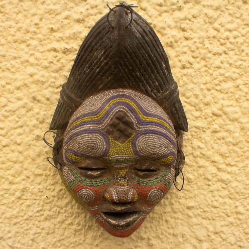 Congo Zaire Wood Mask 'Kindly River Goddess'