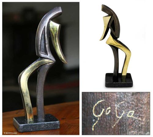 Bronze sculpture 'Samba I'