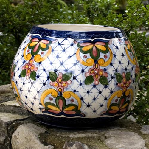 Ceramic flower pot 'Starlight Bouquet'