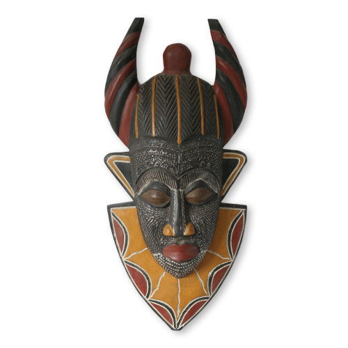 African wood mask 'Tribal Power'