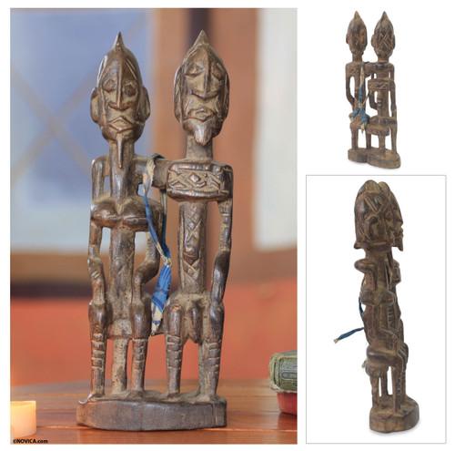 Wood sculpture 'Dogon Royal Love'