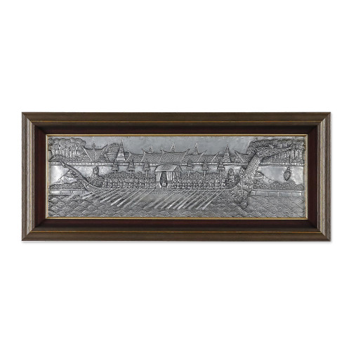 Aluminum repousse panel 'Royal Barge on Parade II'