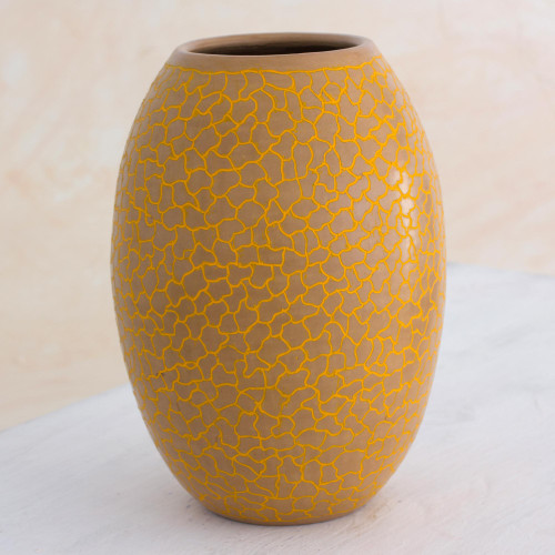 Ivory Color Ceramic Vase For Decorative Use Only 'Matagalpa Dawn'