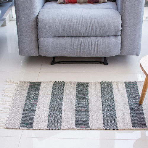 Handwoven Authentic Zapotec Accent Rug in Browns 2 x 3 'Desert Shadows'