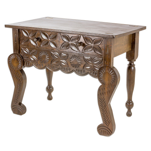 Handcrafted Pinewood Console Table from Guatemala 'Esteemed'