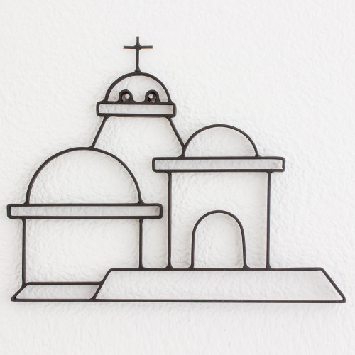 Architectural Iron Wall Art from Guatemala 'Dome of Saint Lucy'