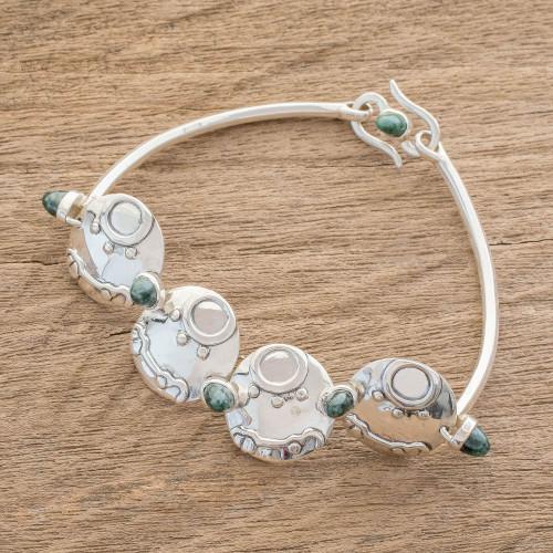 Nahual Jade Pendant Bracelet from Guatemala 'Destiny Nahual''