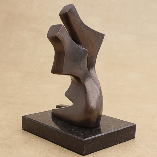 Abstract Bronze Sculpture of a Couple Dancing from Brazil 'Dancing'