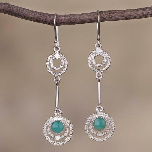 Opal and Sterling Silver Dangle Earrings from Peru 'Sweet Flight'