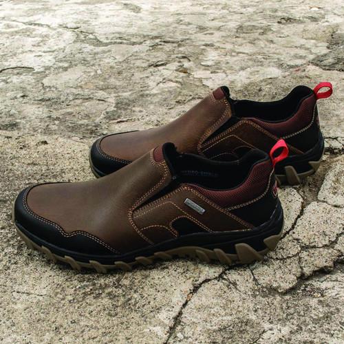 Men's Waterproof Slip-on Brown Leather Loafer 'Cold Harbor'