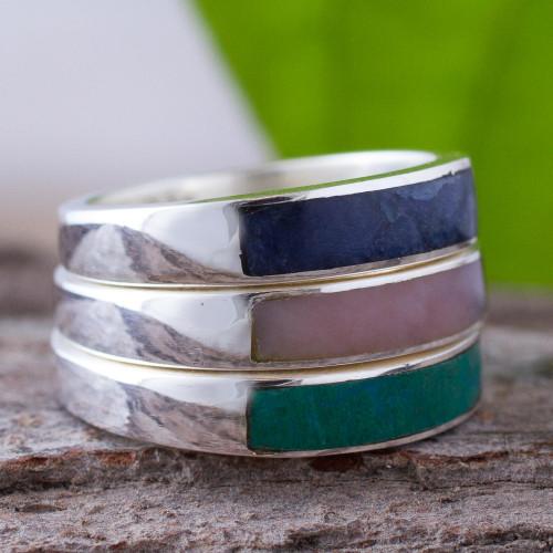 Unique Multi-Stone Sodalite Rose Quartz Ring 'Enchanted'