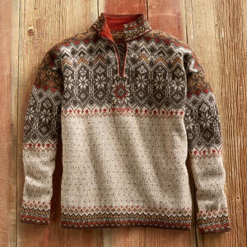 Men's Grecas Alpaca Sweater 'Grecas'