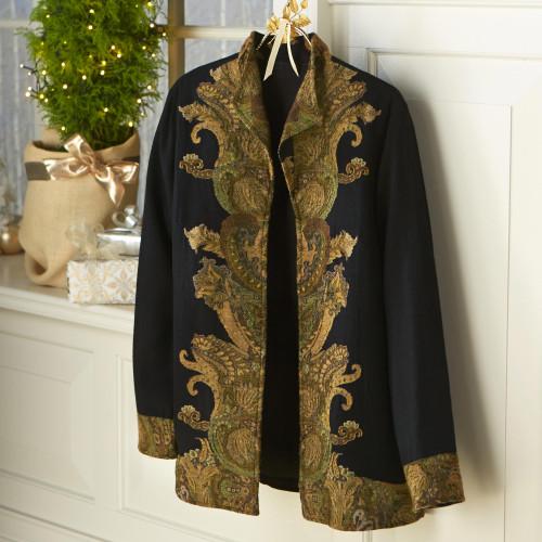 Paisley Flourish Wool Jacket 'Paisley Flourish'