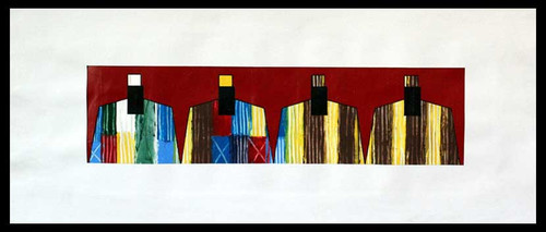Acrylic Expressionist Painting 'African Design'