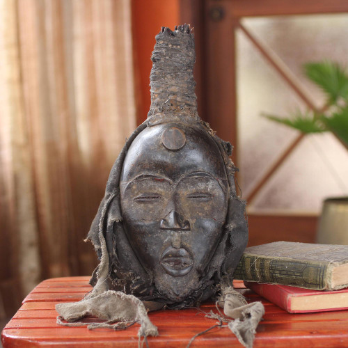 Unique African Wood Mask 'Protecting the Unborn'