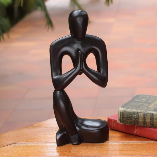 Hand Crafted Wood Sculpture 'Inspirational Message'