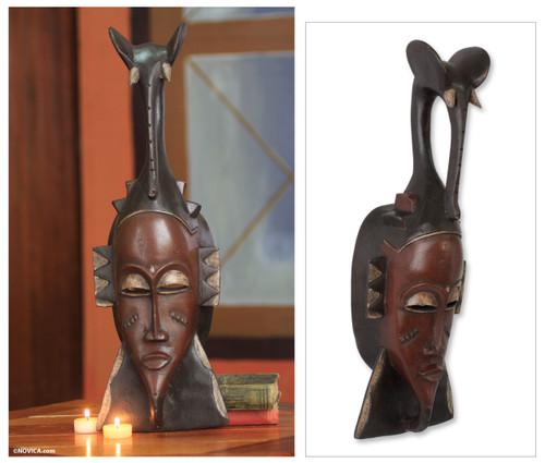 Ivoirian Elephant African Mask 'Strength of the Elephant'