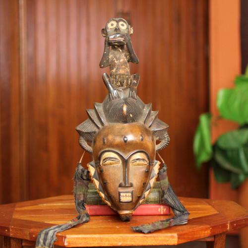 African Tribal Mask 'Baule He Monkey'