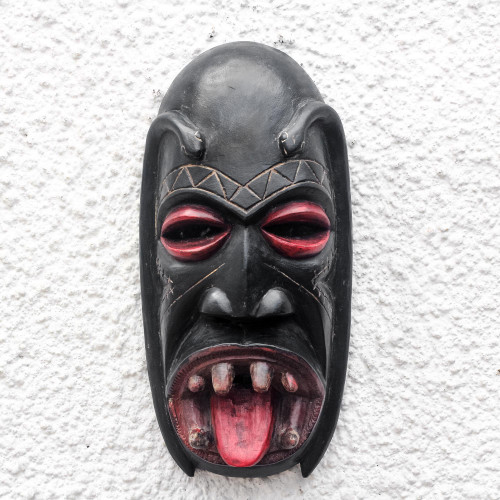 Handcrafted African Festival Wood Mask 'Danyi'