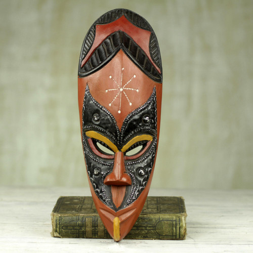 Hand Carved Sese Wood African Mask from Ghana 'Righteous'