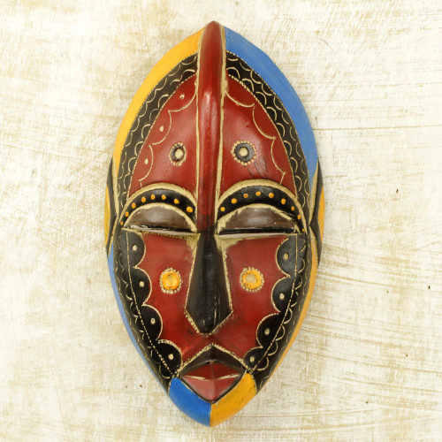 Hand Carved Wooden Igbo Mask 'Uzoma'