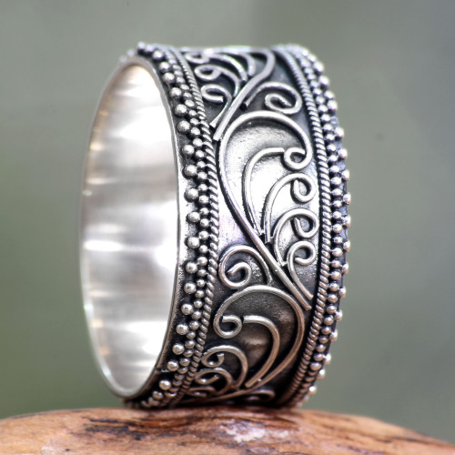 Unique Sterling Silver Band Ring 'Classic Passion'