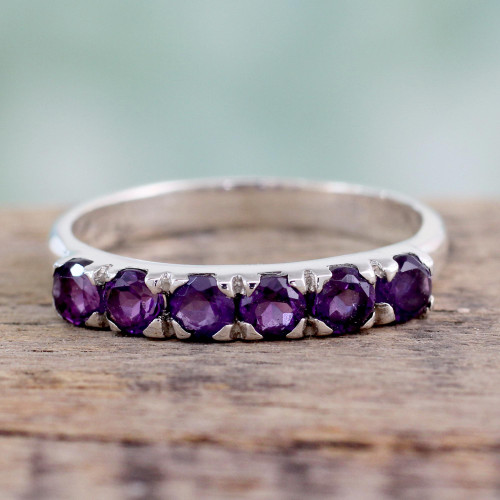 Hand Made Jewelry Sterling Silver Amethyst Ring  'Forever Violet'