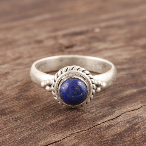 Hand Made Sterling Silver and Lapis Lazuli Ring 'Mystery'