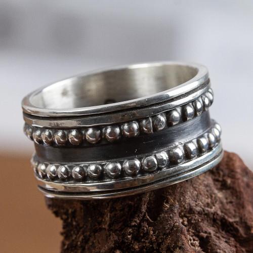 Men's Taxco Silver Band Ring 'Sierra'