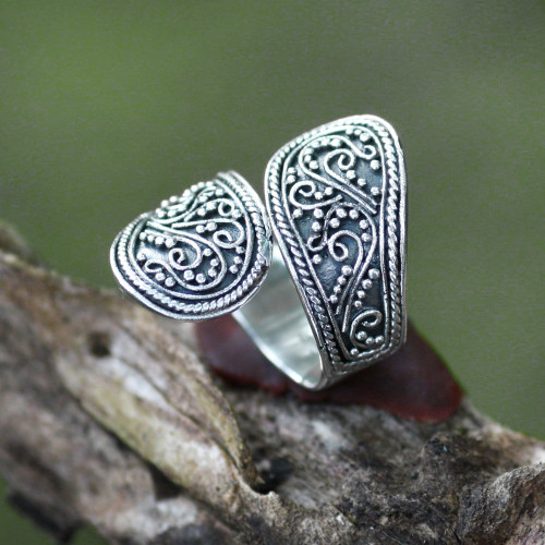 Sterling Silver Wrap Ring from Indonesia 'Together'