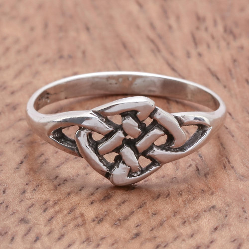 Hand Made Sterling Silver Band Ring 'Endless Love'