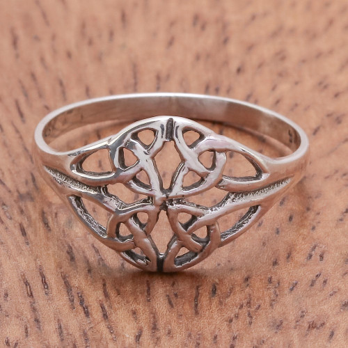 Unique Sterling Silver Band Ring 'Always Together'