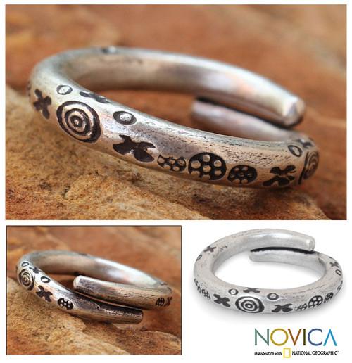 Men's Silver Wrap Ring from Thailand 'Karen Mystique'