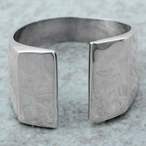 High Polish Sterling Silver Wrap Ring from Mexico 'Shining Gap'