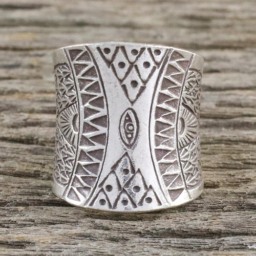 Handcrafted Sterling Silver Wrap Ring from Thailand 'Exotic Thai'