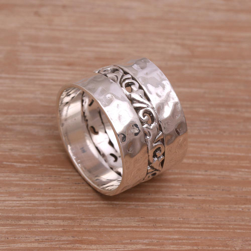 Sterling Silver Band Ring Crafted in Indonesia 'Around the Vines'