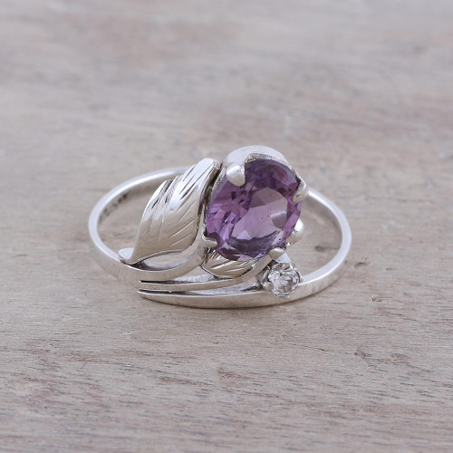 2.5-Carat Amethyst Cocktail Ring from India 'Lavender Charm'