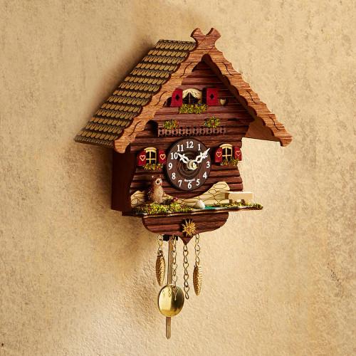 Owl Mini Cuckoo Clock 'Owl's Cottage'