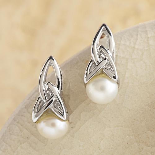 Celtic Pearl Earring 'Celtic Tradition'